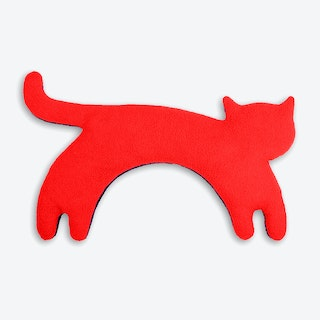 Warming Pillow, Minina The Cat, Standing, Big in Red / Black