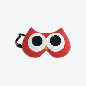 Eye Mask, Stella The Owl in Red / Black