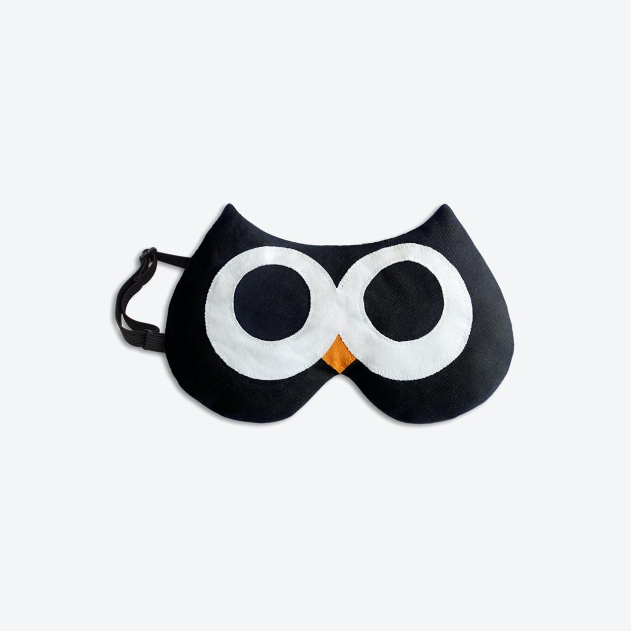 Eye Mask, Stella The Owl in Black / Black