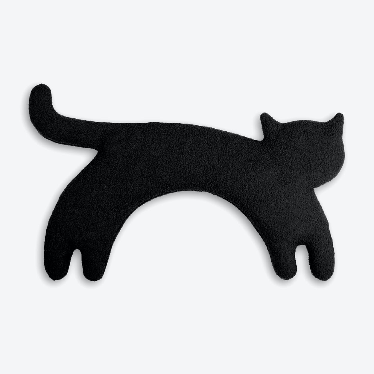 Warming Pillow, Minina The Cat, Standing, Big in Black / Black