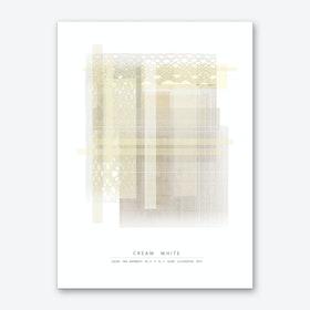 Cream White Art Print
