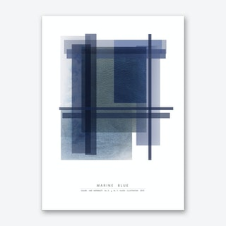 Marine Blue Art Print
