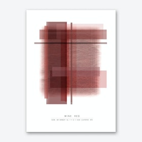 Wine Red Art Print