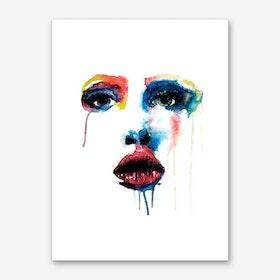 Crying Blue Art Print