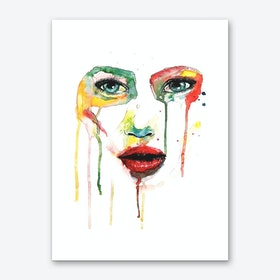 Crying Green Art Print