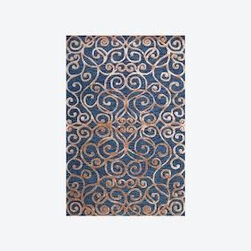 Monte Carlo Dark Blue/Camel Rug