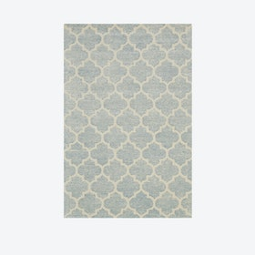 Diamond Cut Light Blue Rug