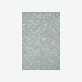 Stapples Light Blue/Silver Rug