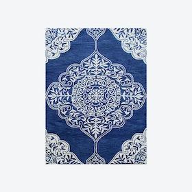 Kirman Dark Blue Rug