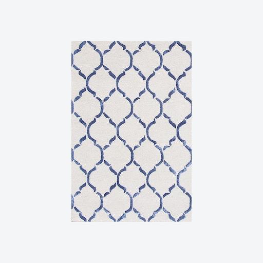Chain Dark Blue Rug