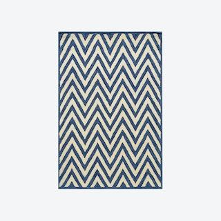 Ziggy Ivory/Dark Blue Rug