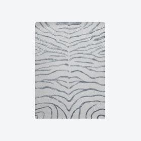 Zebra Silver Rug