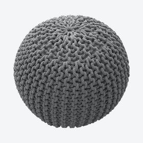 COOL Pouf in Silver