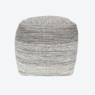DELIGHT Pouf in Grey/White