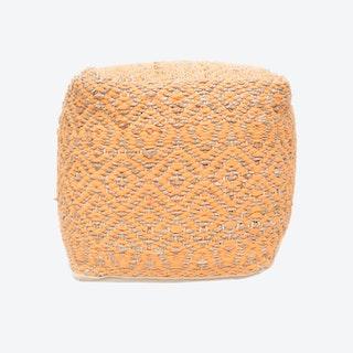 PRESTON Pouf in Orange