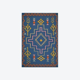 Mexico D36 B Rug in Blue