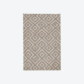 Luise Rug in Light Blue/Natural