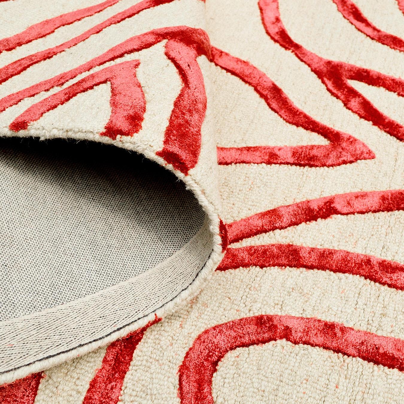 Zebra Red Rug By Bakero Fy