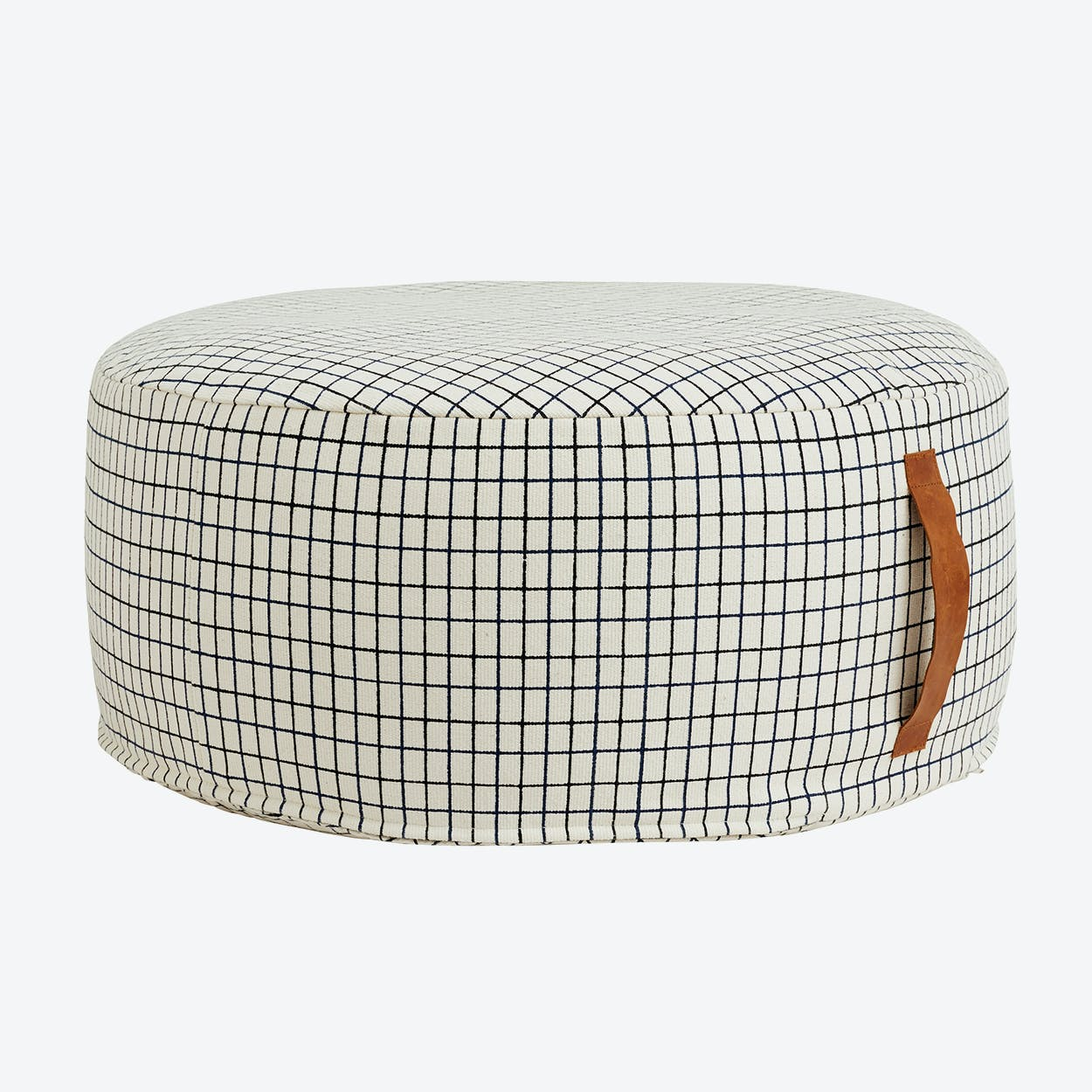 Sit On Me Pouf - Round in off White