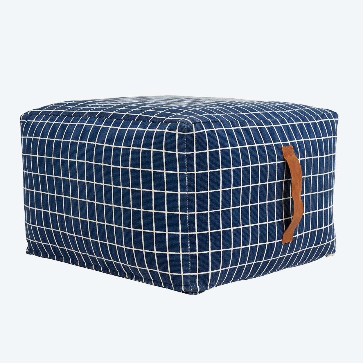 Sit On Me Pouf - Square in Blue