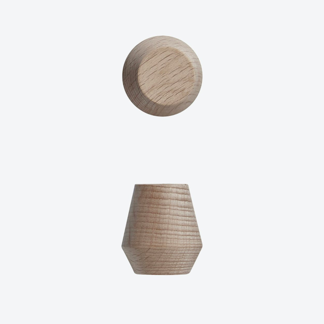 Saki Hook in Nature Wood (Set of 2)