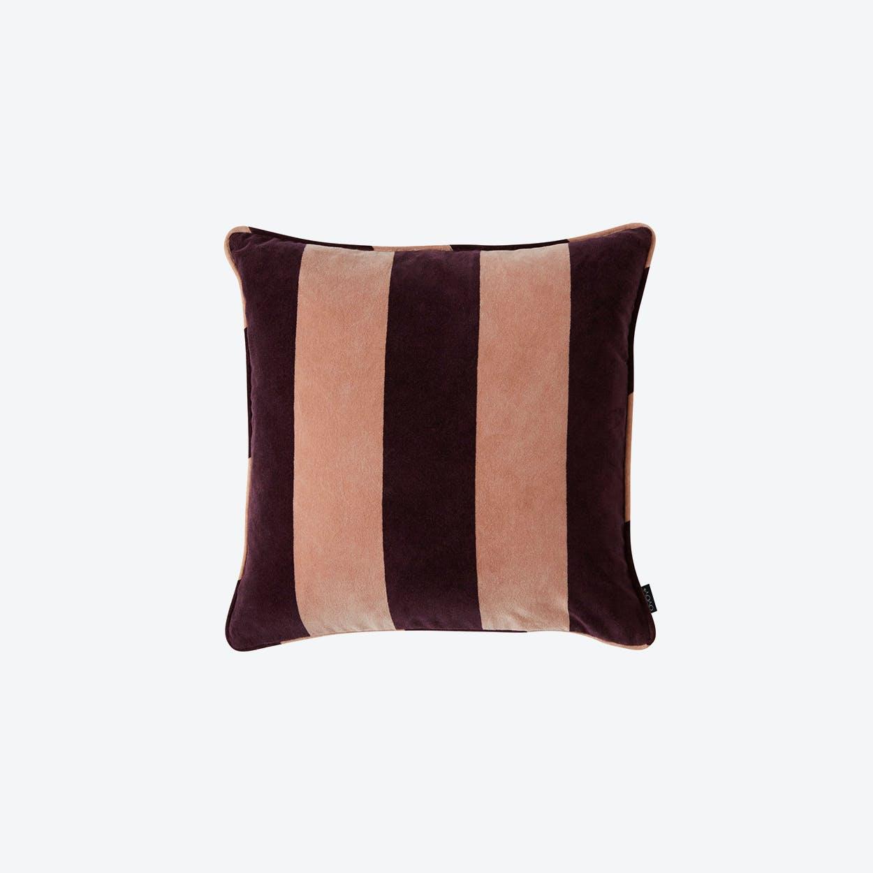 Confect Velvet Cushion in Rose/Aubergine