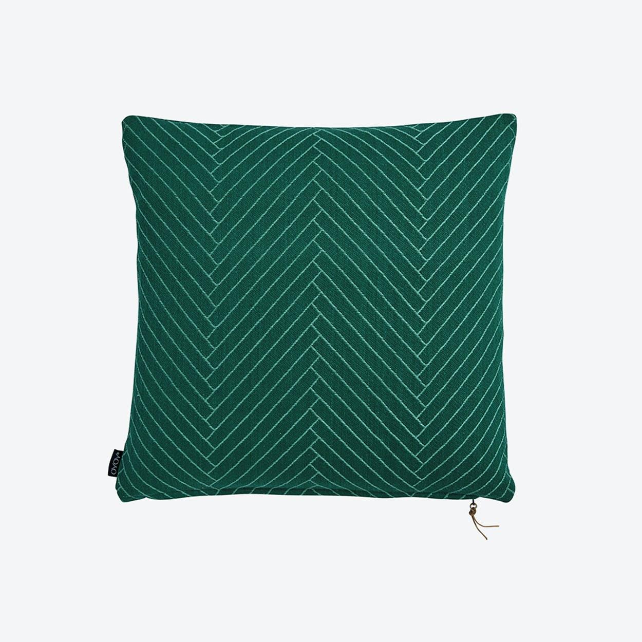 Fluffy Herringbone - Floor in Dark Green