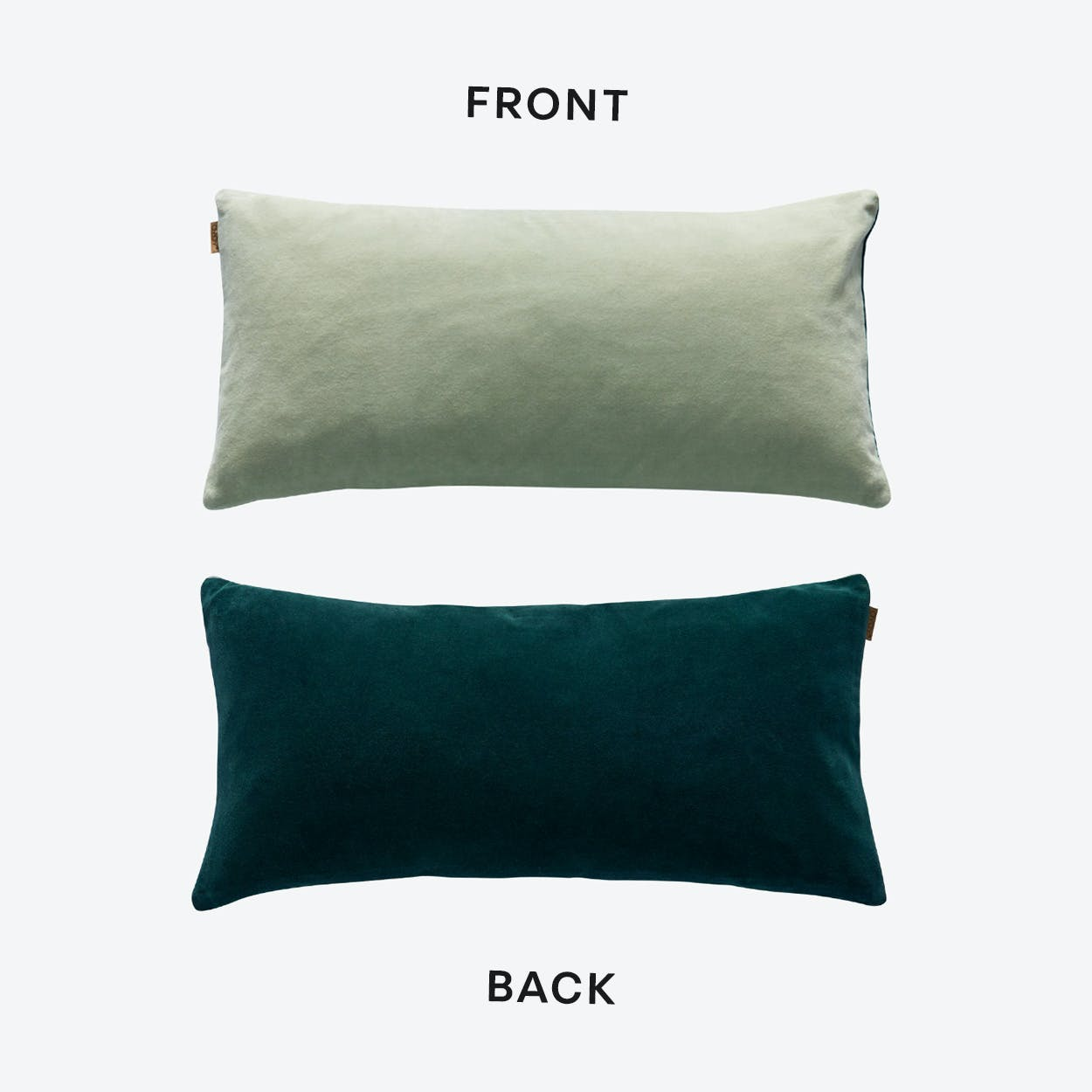 Lia Cushion in Fog Green / Trekking Green