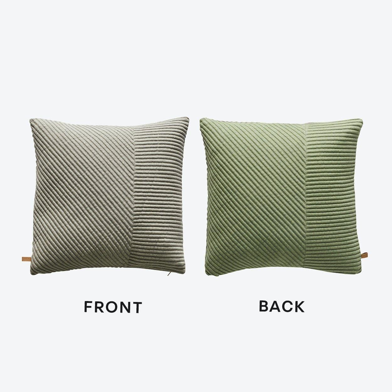 Ada Cushion in Grey/Dusty Green