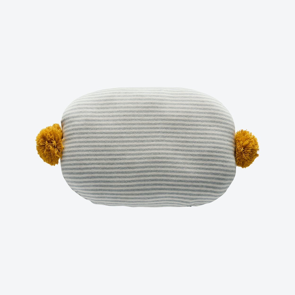 Bonbon Cushion in Light Grey/White/Bamboo