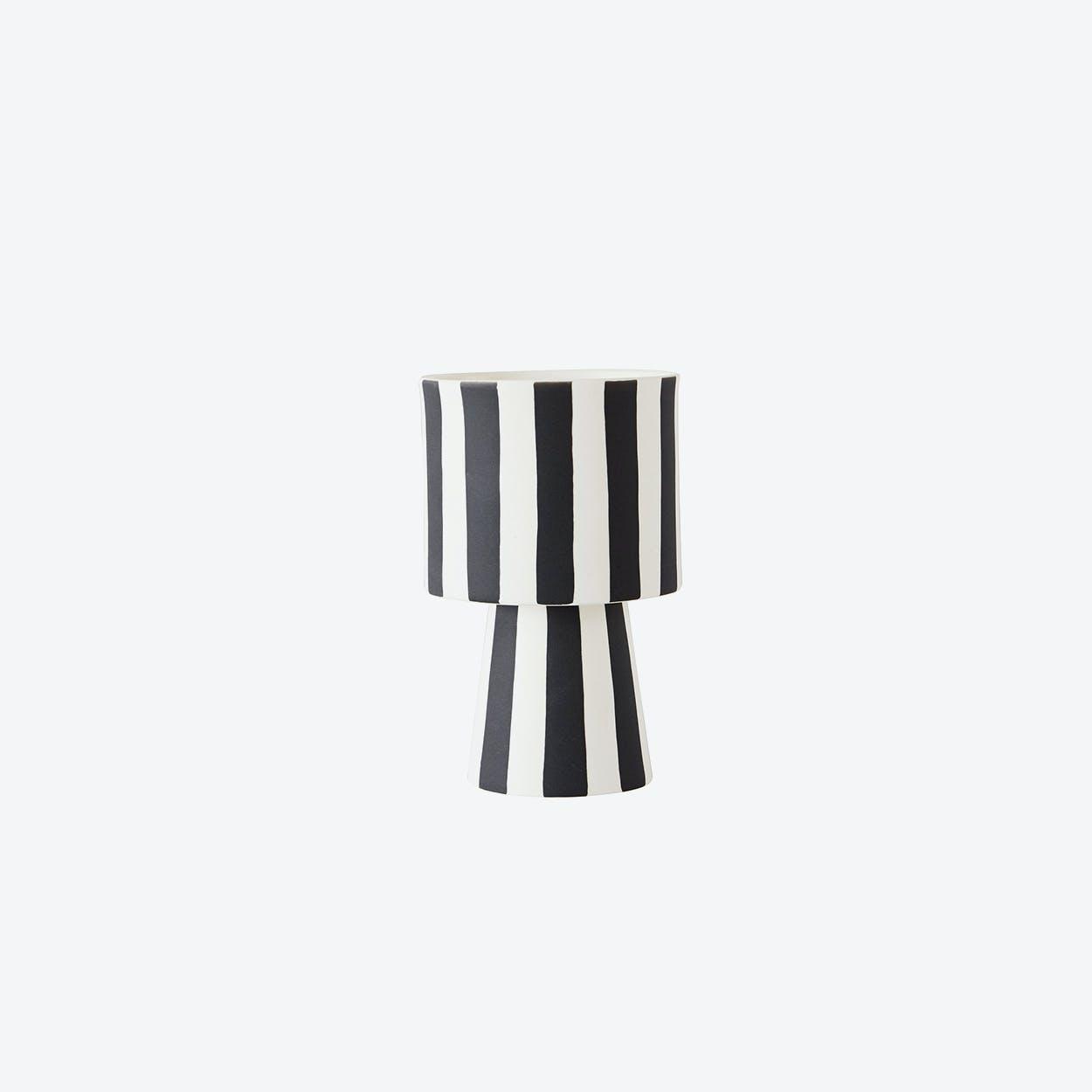 Toppu Pot - Small in Black & White