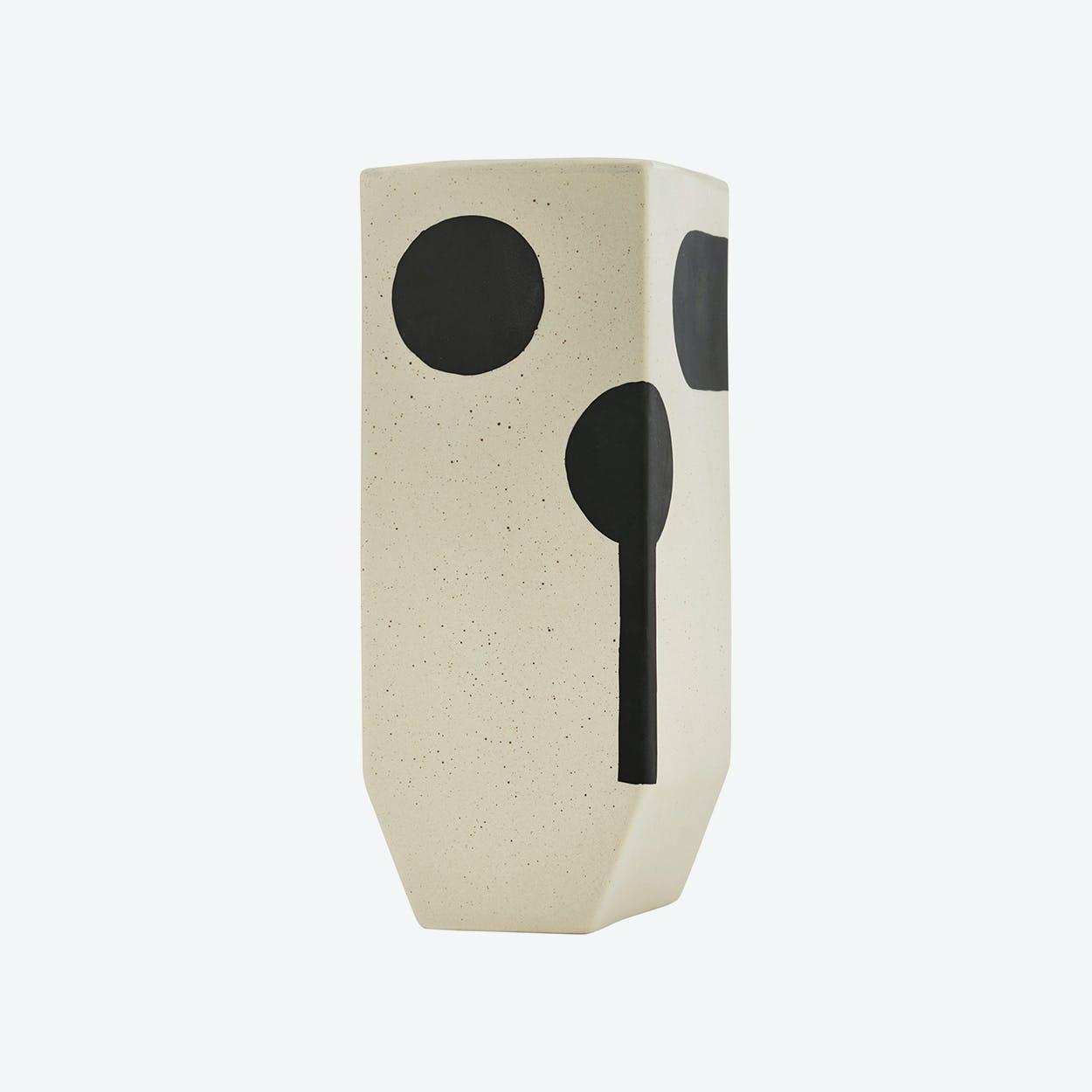 Rica Vase - High in Sand / Black