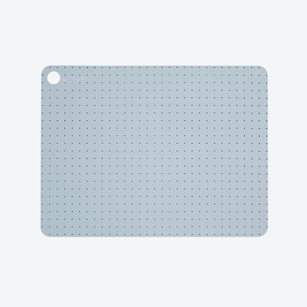 Placemats Grid Dotin Pale Grey Blue (Set of 2)