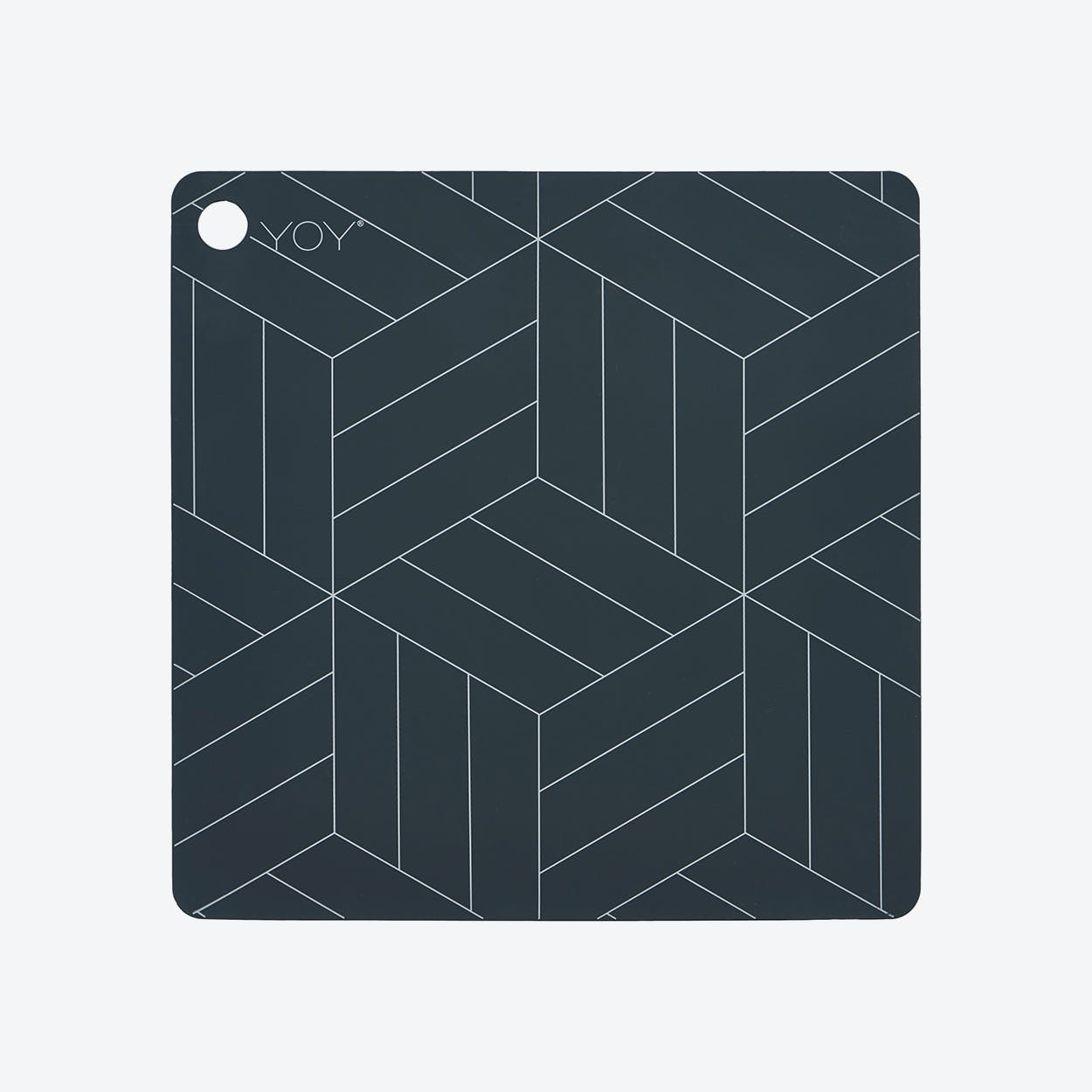 Placemats Madoin Dark Grey (Set of 2)