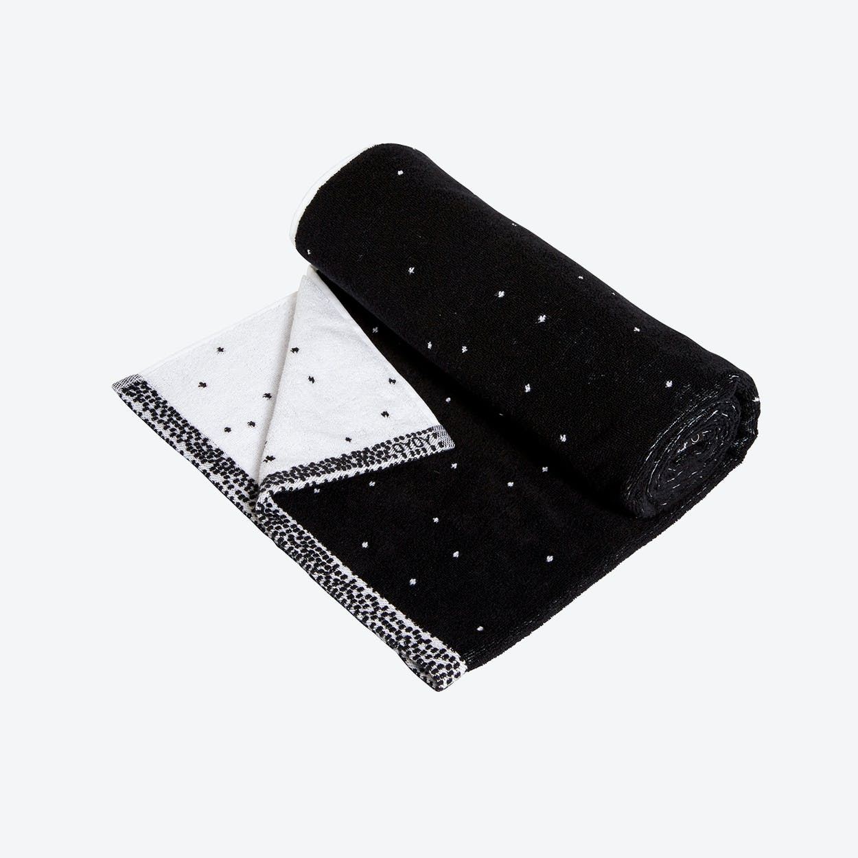 Dotty Towel - Small in Black / White