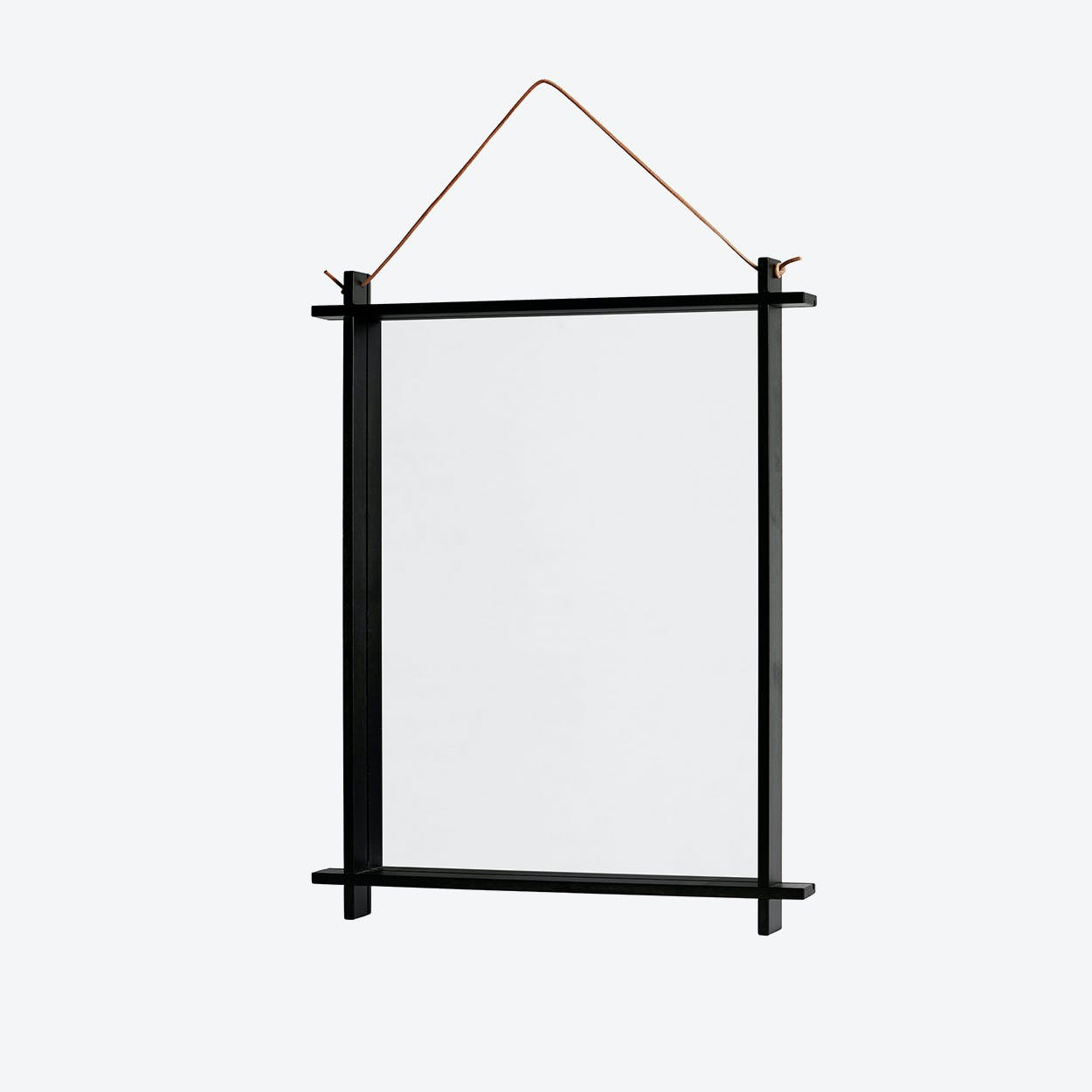 Square Mirror in Dark Stained