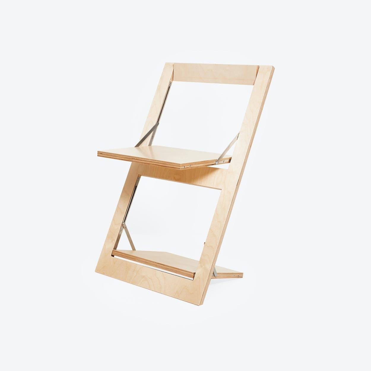 Fläpps Folding Chair - Birch clear