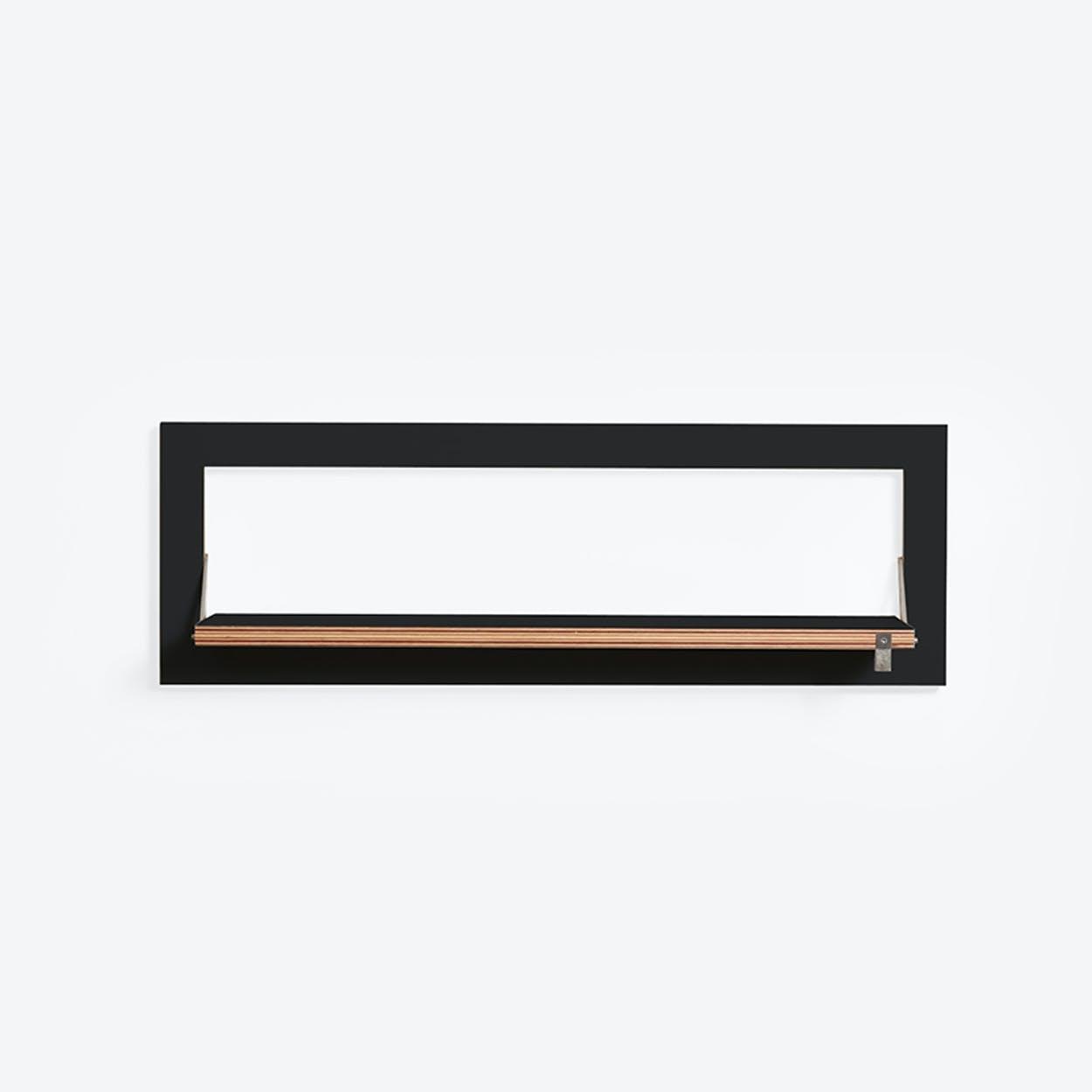 Fläpps Shelf 80x27-1 - Black
