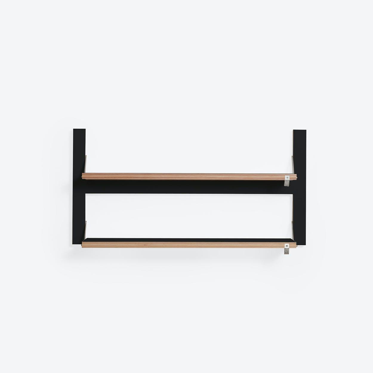 Fläpps Shelf 80x40-2 - Black