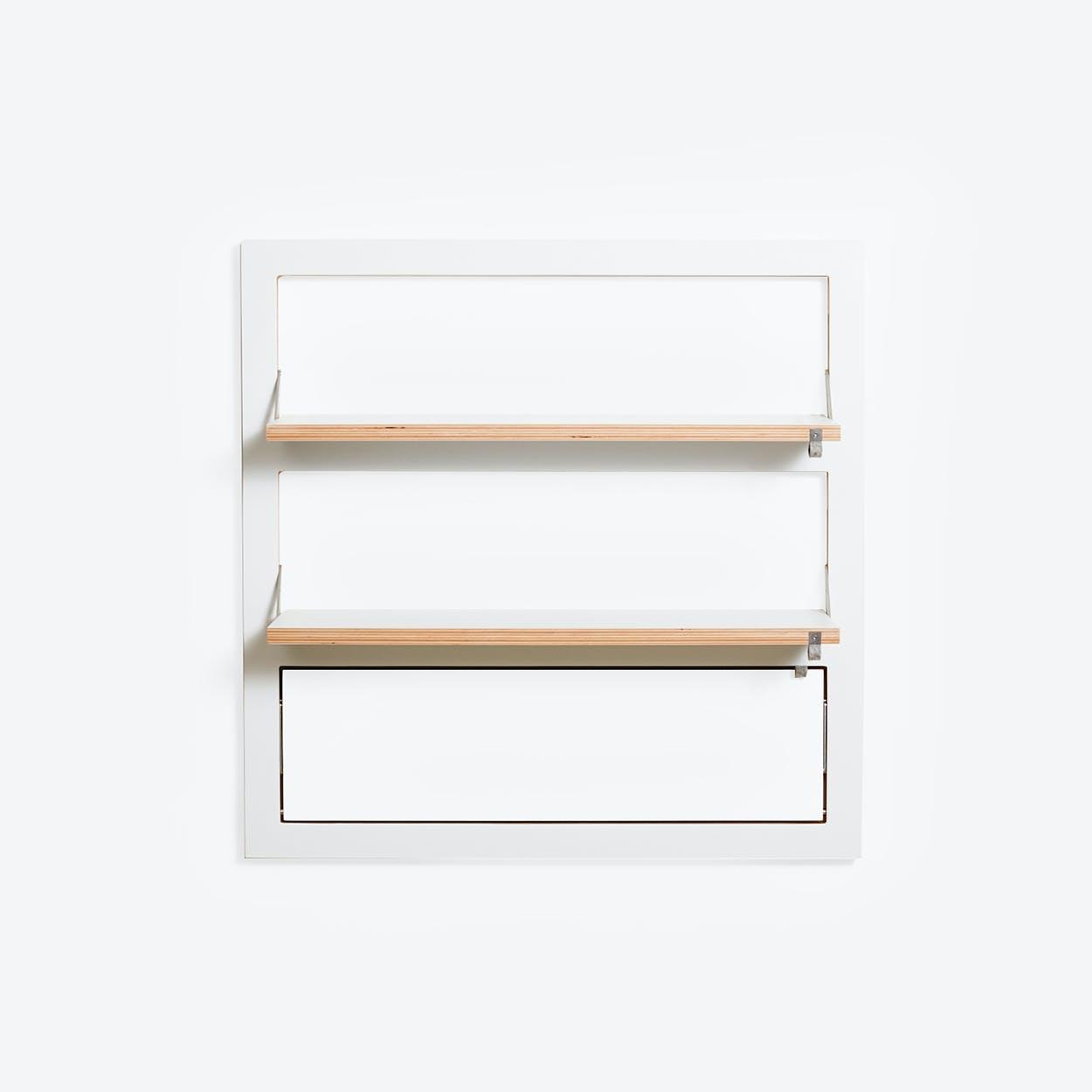 Fläpps Shelf 80x80-3 - White