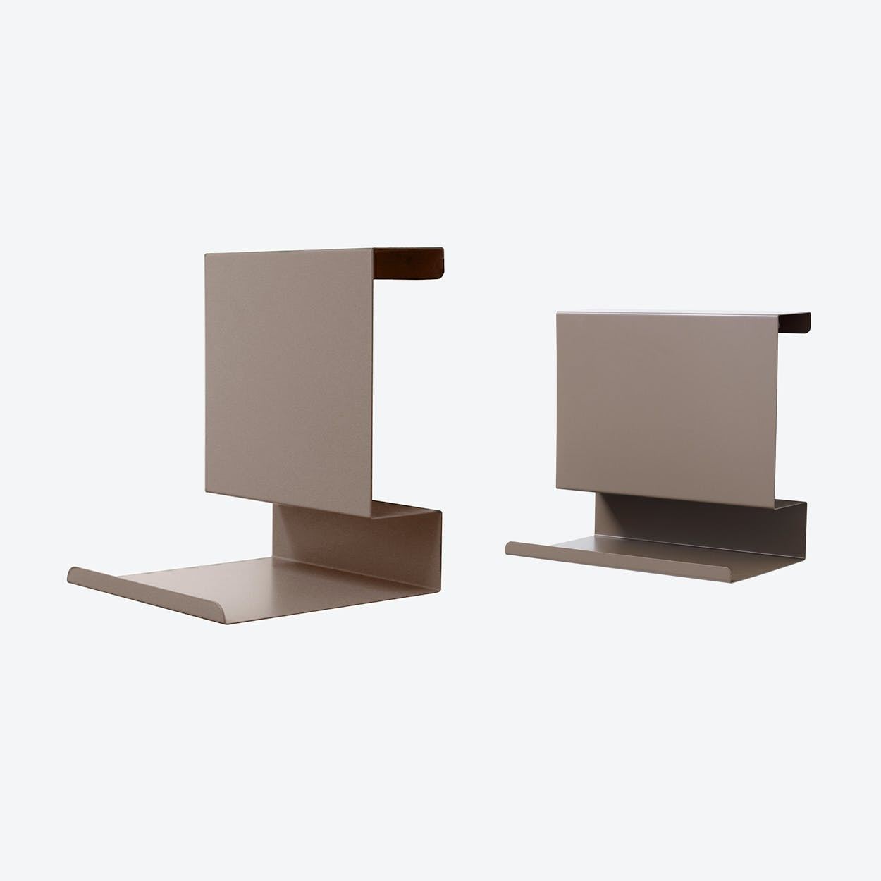 Big:ledge and Ledge:able in Brown Grey (Set of 2)