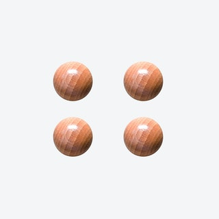 Oak Ball with Magnets (Set of 4)