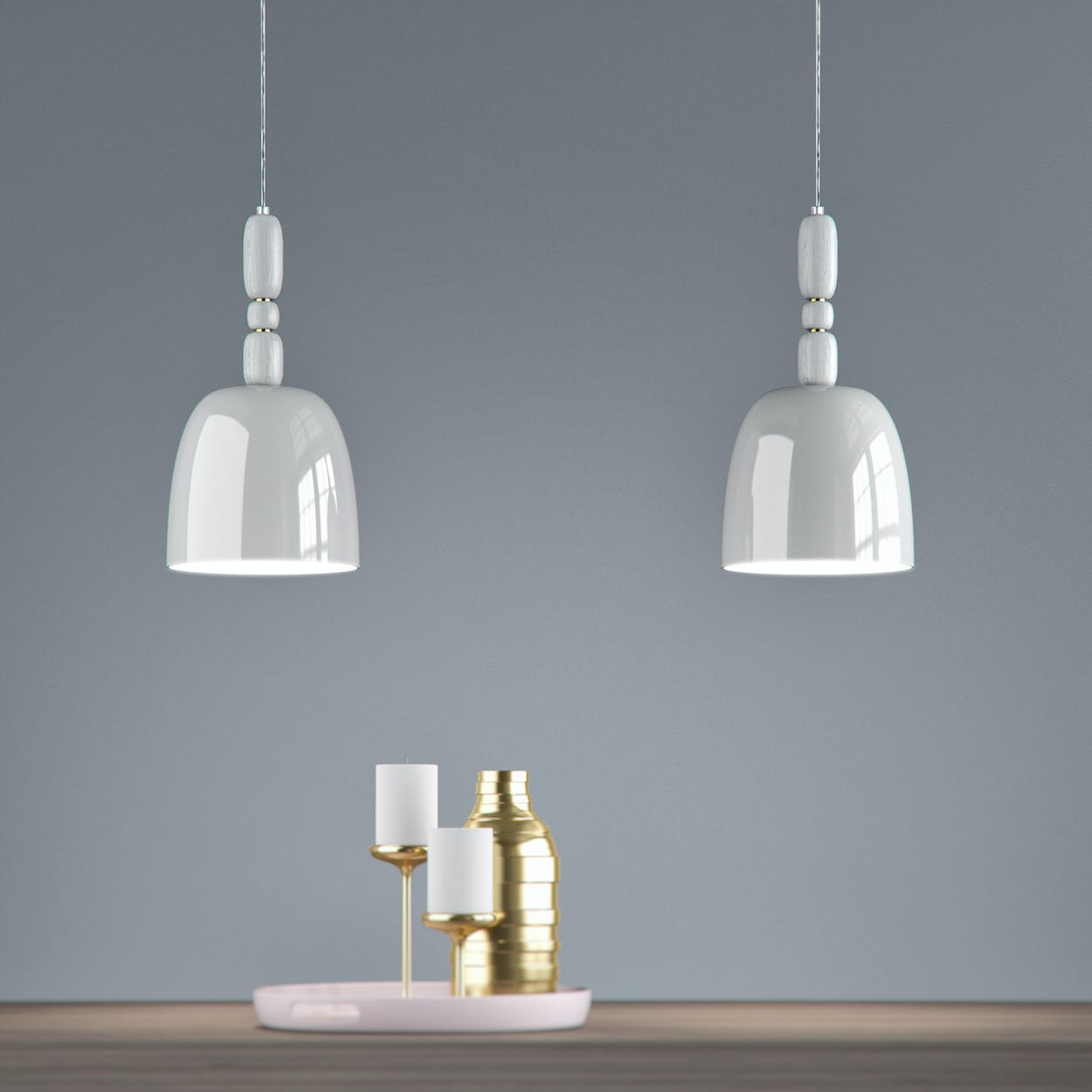 Cece Pendant Lamp in Grey