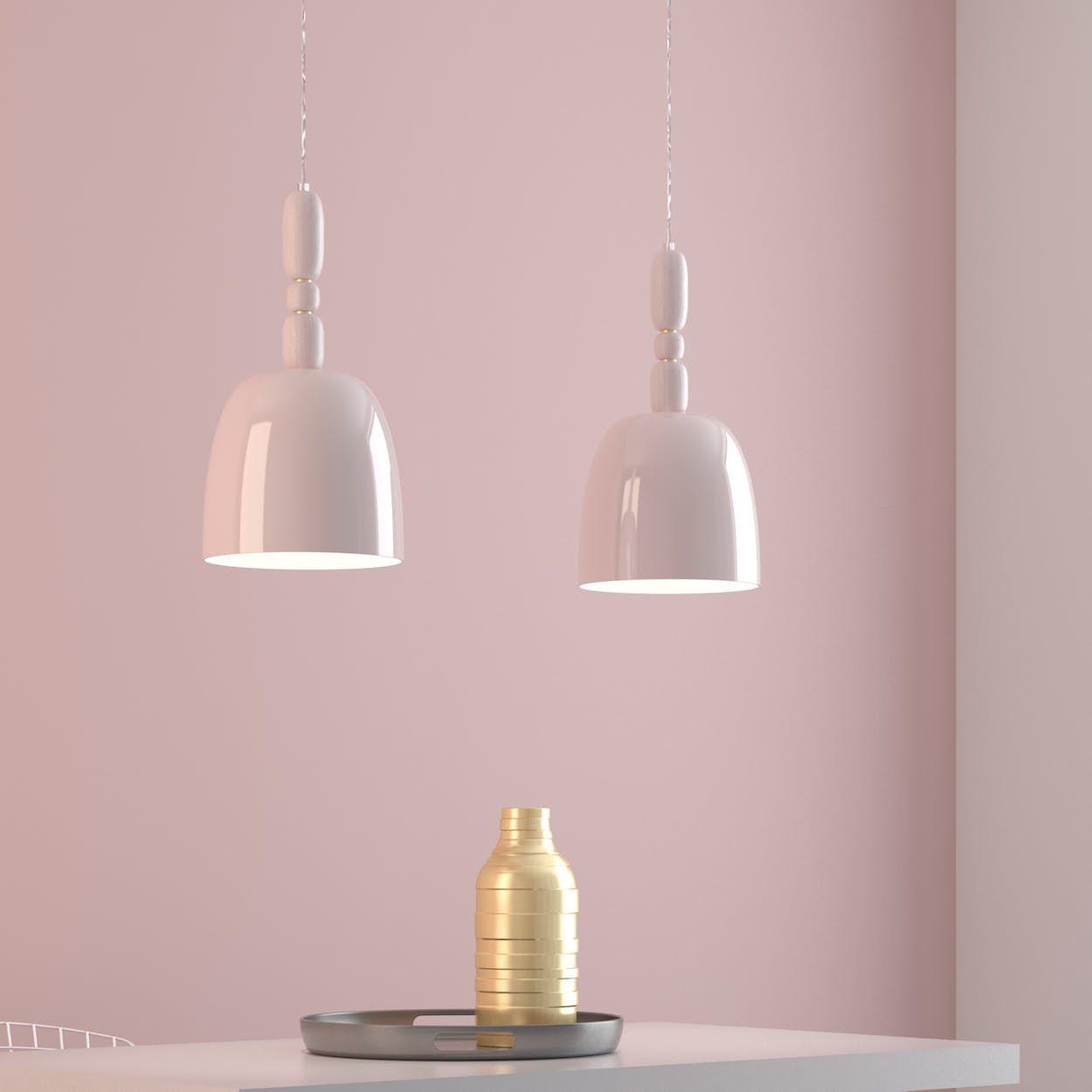Cece Pendant Lamp in Pink