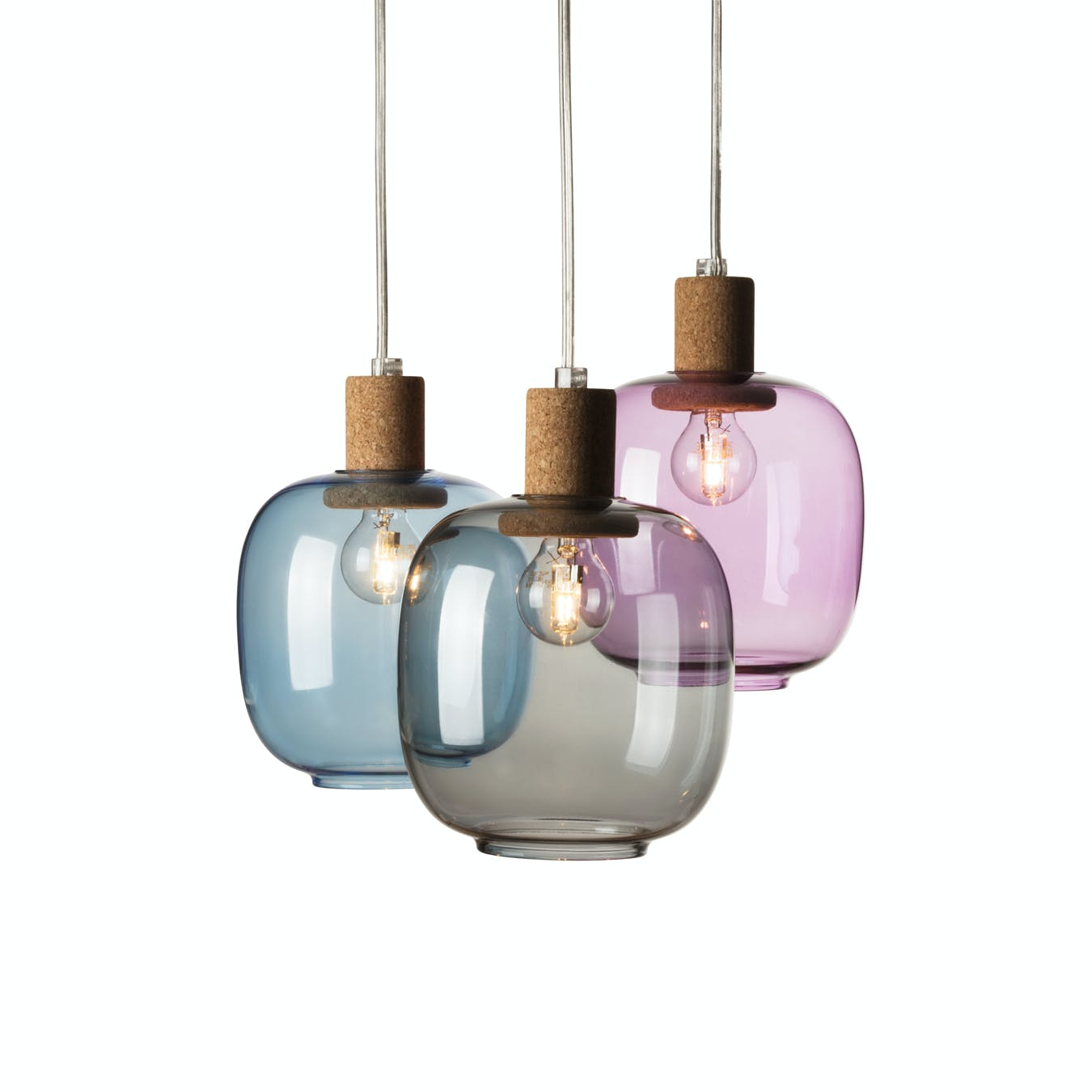 Picia Pendant Lamp in Purple