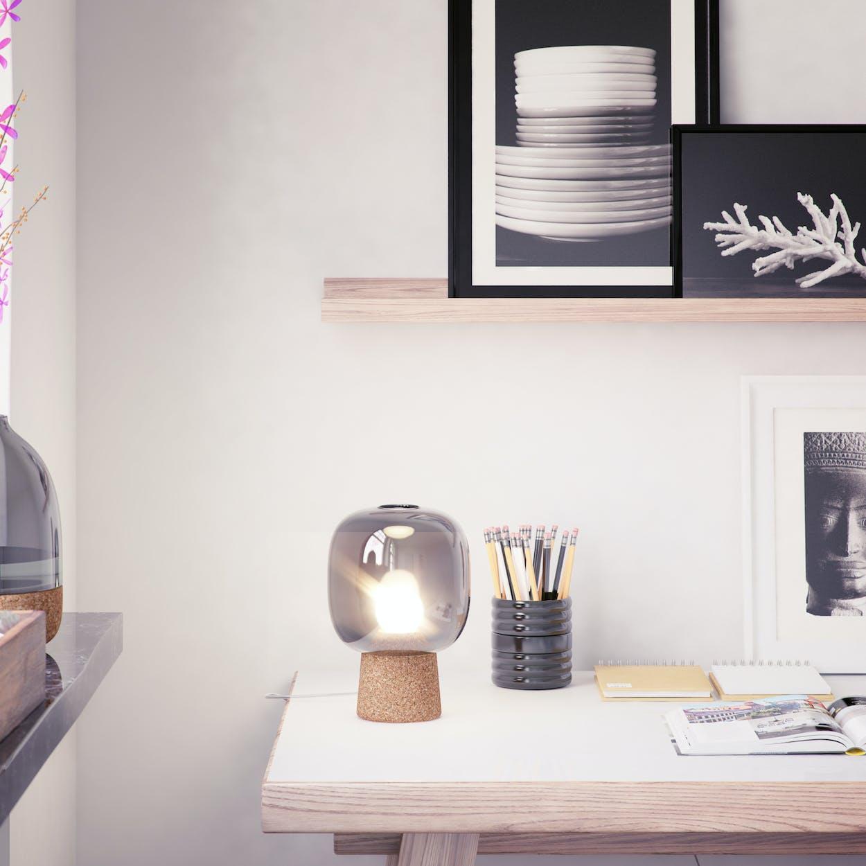 Picia Table Lamp in Grey