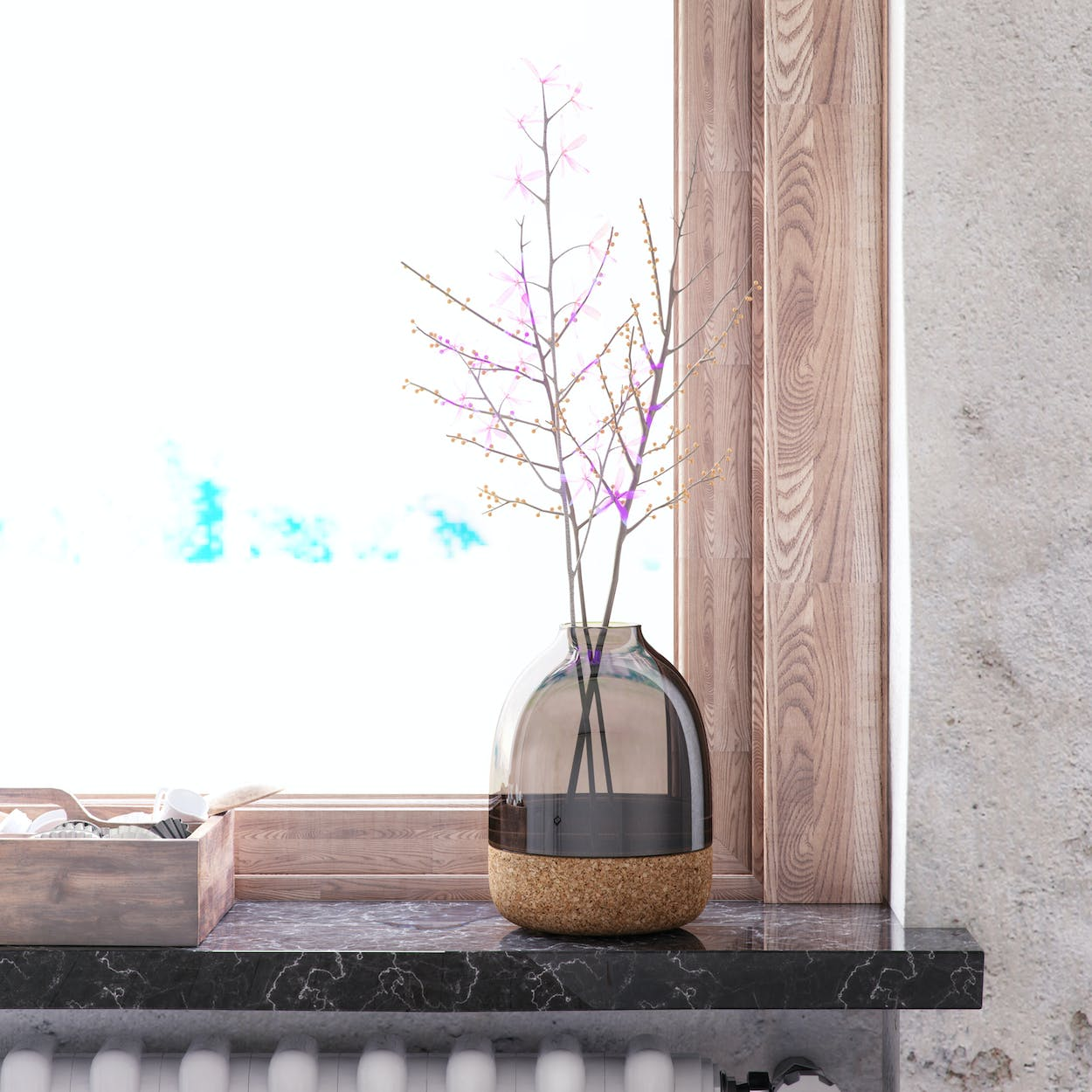 Pitaro Vase in Grey