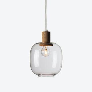 Picia Pendant Lamp in Clear Glass