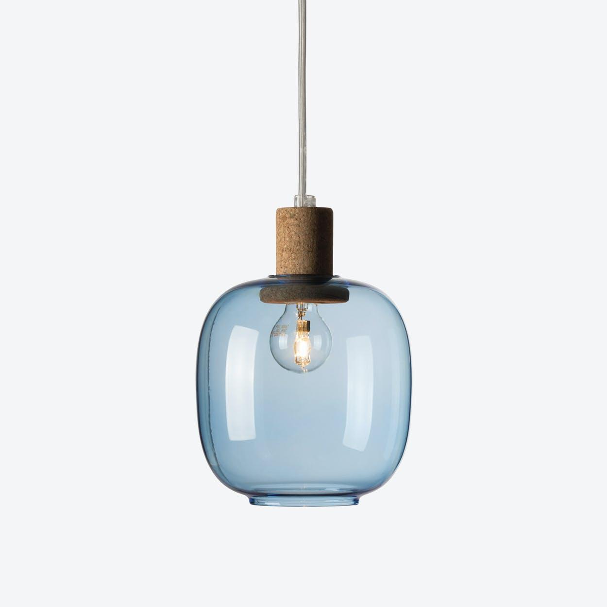 Picia Pendant Lamp in Blue Glass