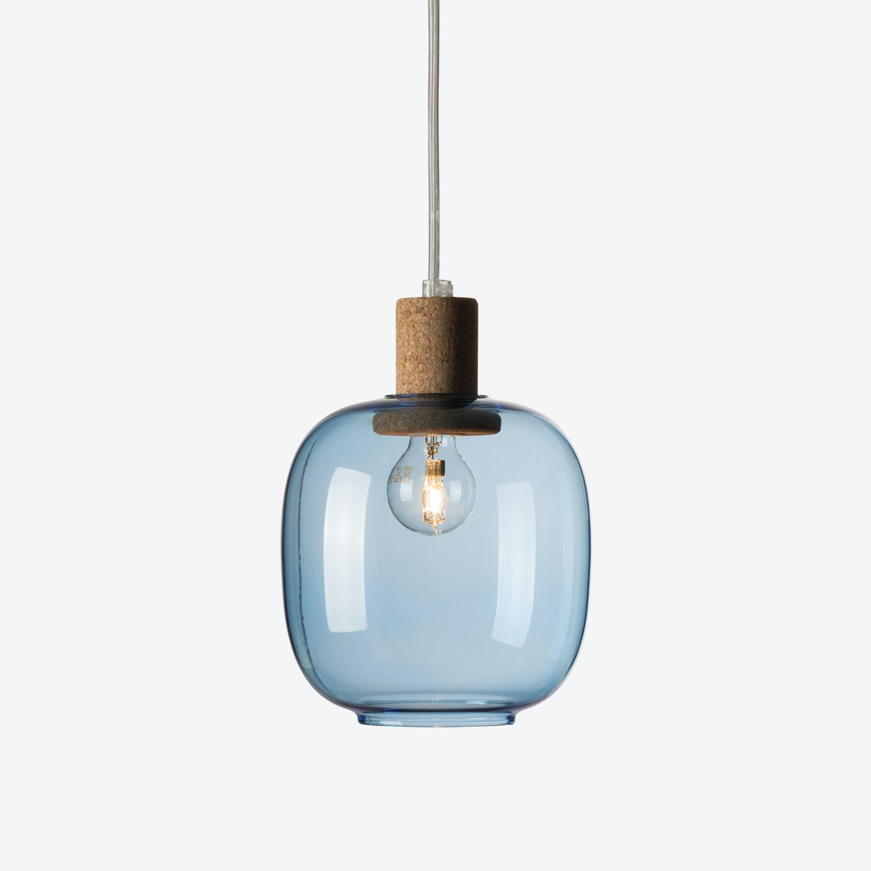 Picia Pendant Lamp in Blue Glass